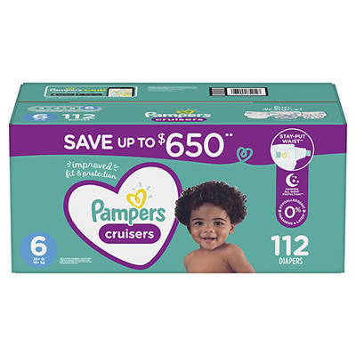Pampers Cruisers Diapers, Size 6, 112 ct.