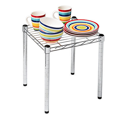 """Honey-Can-Do Urban 15"""" Wire Table - Chrome"""