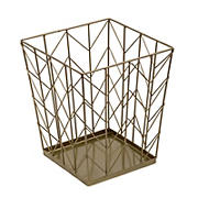Honey-Can-Do Chevron Trash Can - Bronze
