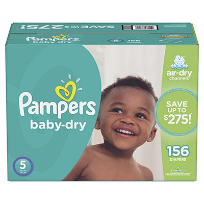 Pampers Baby Dry Diapers, Size 5, 156 ct.