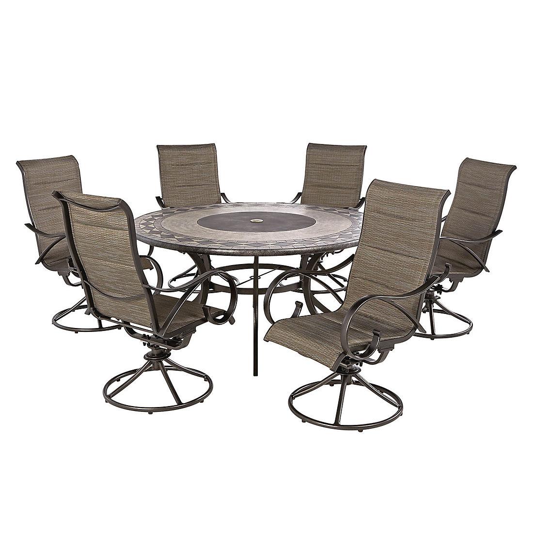 Excellent Berkley Jensen Seaport 7 Pc Padded Sling Dining Set Cjindustries Chair Design For Home Cjindustriesco