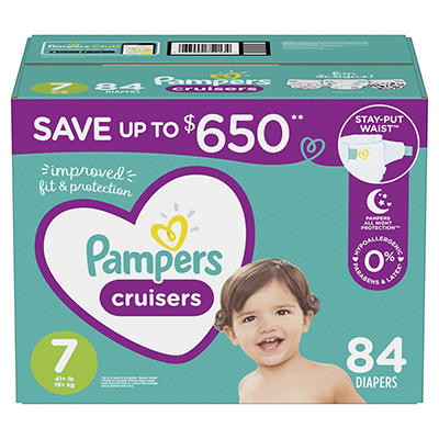 Pampers Cruisers Diapers, Size 7, 84 ct.