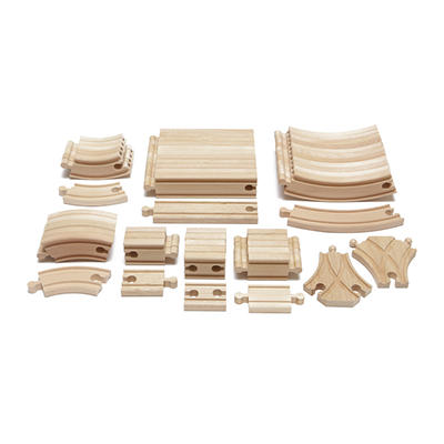 Maxim Enterprise 54-Pc. Hardwood Expansion Wooden Train Track Pack
