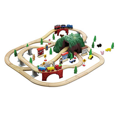 Maxim Enterprise 100-Pc. Mountain Wooden Train Set