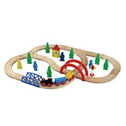 Maxim Enterprise 40-Pc. Wooden Train Set