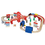 Maxim Enterprise 60-Pc. Wooden Train Set