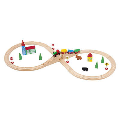 Maxim Enterprise 37-Piece Wooden Train Set