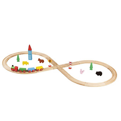 Maxim Enterprise 32-Pc. Wooden Train Set