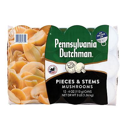 Giorgio/Pennsylvania Dutchman Mushroom Pieces and Stems, 12 pk./4 oz.