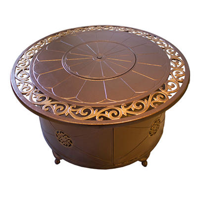 AZ Patio Heaters Aluminum Outdoor Fire Pit with Scroll Design