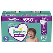 Pampers Cruisers Diapers, Size 5, 132 ct.