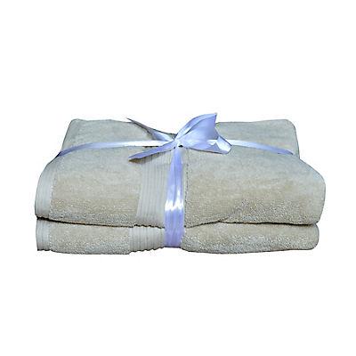 Berkley Jensen Cotton Bath Towel Set, 2 pk. - Taupe