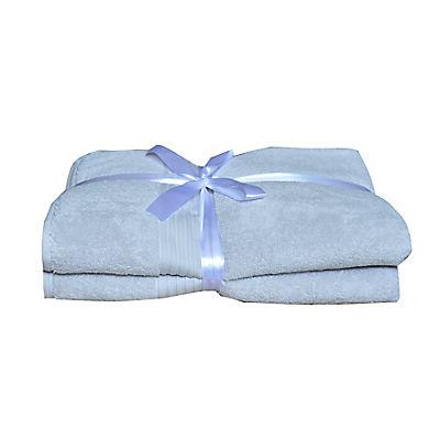 Berkley Jensen Cotton Bath Towel Set, 2 pk. - Gray