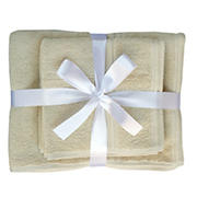 Berkley Jensen Cotton Hand Towel and Wash Cloth Set, 4 pk. - Taupe