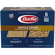 Barilla Whole Grain Spaghetti and Penne, 6 pk./1 lb.