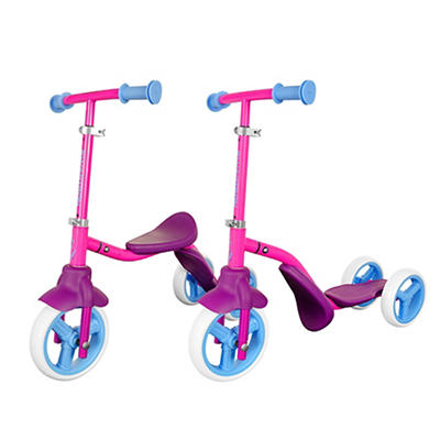 K2 Child Walker 3-Wheel Scooter & Ride-On Balance Trike - Pink