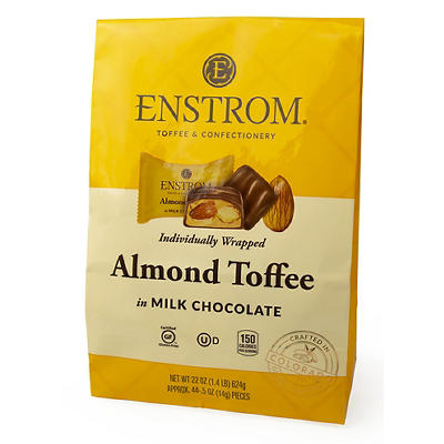 Enstrom Candies Almond Toffee in Milk Chocolate, 22 oz.
