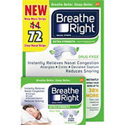 Breathe Right Clear Nasal Strips, 72 ct.