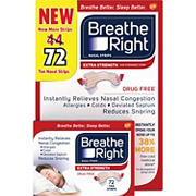 Breathe Right Tan Nasal Strips, 72 ct.