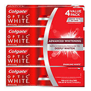 Colgate Optic White Whitening Toothpaste, Sparkling White, 4 pk./4.6 oz.