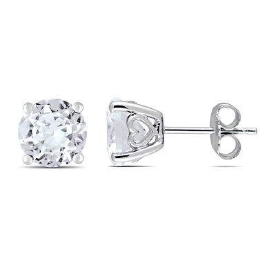 4.8 ct. t.w. White Sapphire Stud Earrings in Sterling Silver