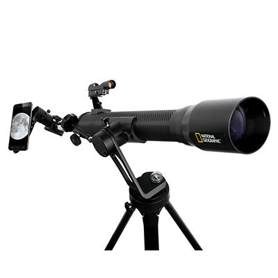 National Geographic 7mm Black Carbon Fiber Telescope with Phone Adapte