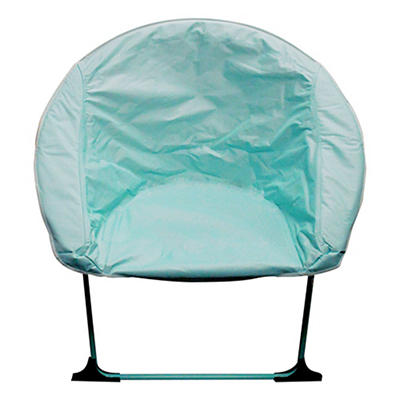 Impact Canopy Plush Folding Saucer Chair - Blue