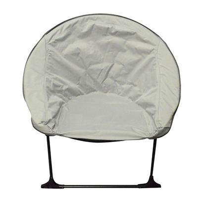 Impact Canopy Plush Folding Saucer Chair - Gray