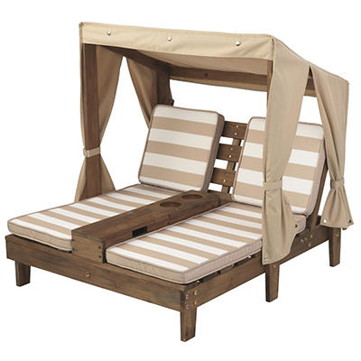 KidKraft Double Chaise Lounge with Cup Holder