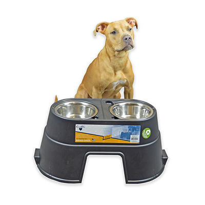 "OurPets Comfort 12"" Pet Feeder - Black"