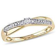 .05 ct. t.w. Diamond Ring in 10k Yellow Gold, Size 5