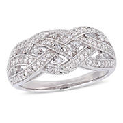 .24 ct. t.w. Diamond Entwined Ring in Sterling Silver, 8