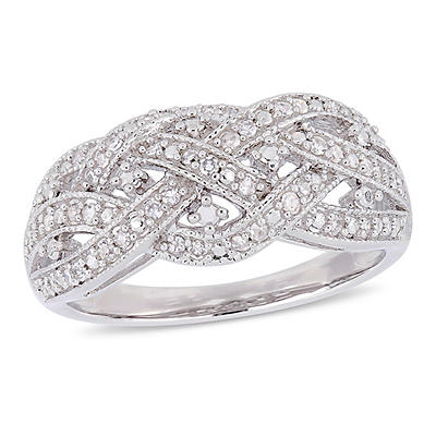 .24 ct. t.w. Diamond Entwined Ring in Sterling Silver, 9