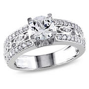 1.90 ct. t.w. Created White Sapphire Ring in Sterling Silver, Size 8