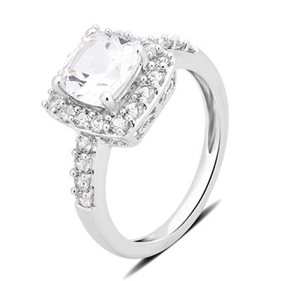 1.50 ct. t.w. Created White Sapphire Ring in Sterling Silver, Size 8