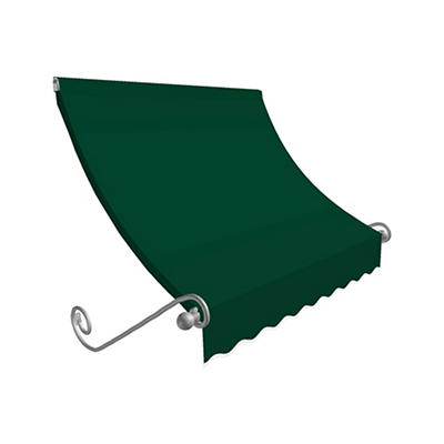 """Awntech Charleston 3' Beauty-Mark Scrolled Arm Awning with 36"""" Project"""