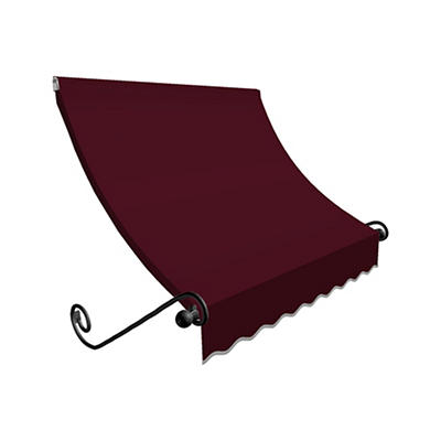 """Awntech Charleston 4' Beauty-Mark Scrolled Arm Awning with 36"""" Project"""