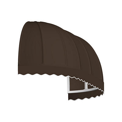 "Awntech Chicago 3' Elongated Dome Awning with 24"" Projection - Brown"