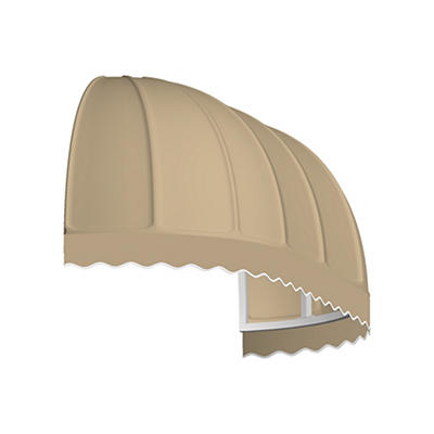 "Awntech Chicago 4' Elongated Dome Awning with 24"" Projection - Tan"