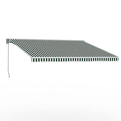 """Awntech DestinLX 10' Left-Facing Retractable Awning with 96"""" Projectio"""