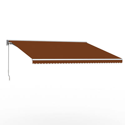 """Awntech DestinLX 12' Left-Facing Retractable Awning with 120"""" Projecti"""