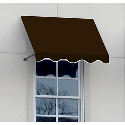 """Awntech Dallas 5' Beauty-Mark Open-Sided Slope Awning with 36"""" Project"""