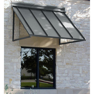 "Awntech Houstonian 3' Metal Standing Seam Awning with 24"" Projection -"