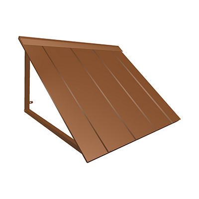 "Awntech Houstonian 5' Metal Standing Seam Awning with 24"" Projection -"
