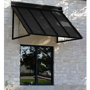 "Awntech Houstonian 4' Metal Standing Seam Awning with 36"" Projection - Black"