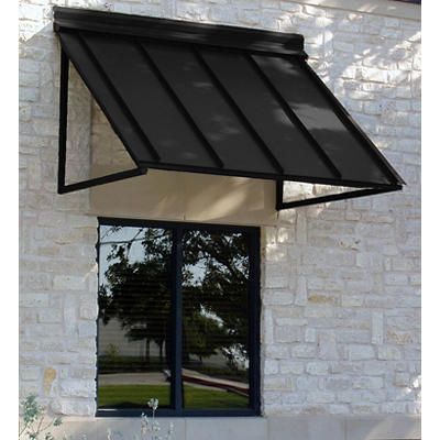 "Awntech Houstonian 4' Metal Standing Seam Awning with 36"" Projection -"