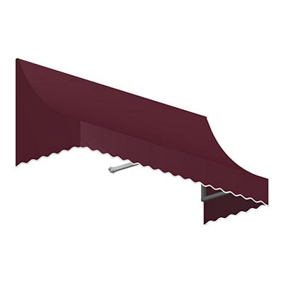 "Awntech Nantucket 3' Crescent Shaped Awning with 24"" Projection - Burg"