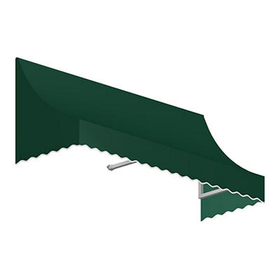 "Awntech Nantucket 4' Crescent Shaped Awning with 24"" Projection - Fore"