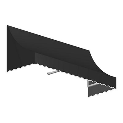 "Awntech Nantucket 4' Crescent Shaped Awning with 24"" Projection - Blac"