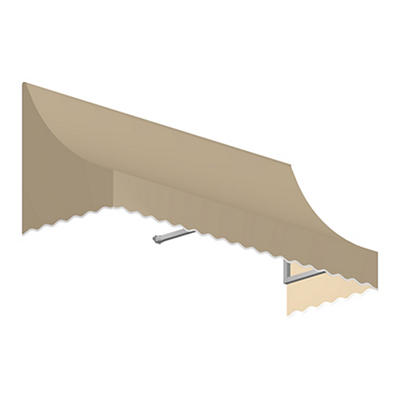 "Awntech Nantucket 4' Crescent Shaped Awning with 24"" Projection - Tan"